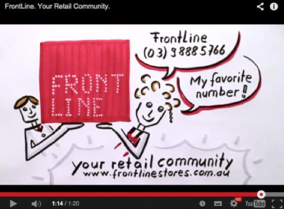 Visual facilitation video to explain Frontline business model