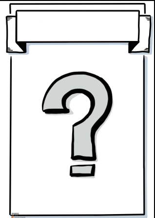 question mark poster template visual friends