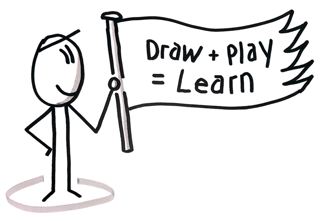 Draw + Play = Learn
