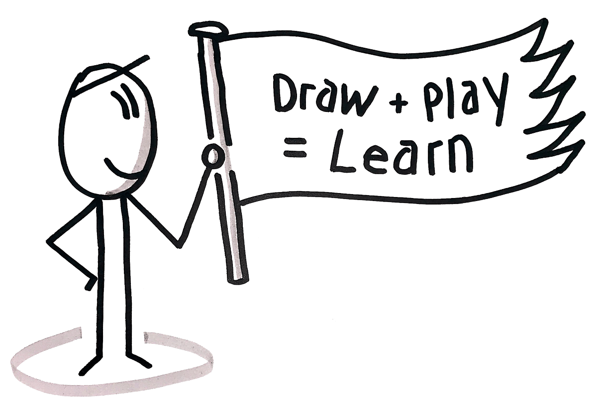 Draw + Play = Learn