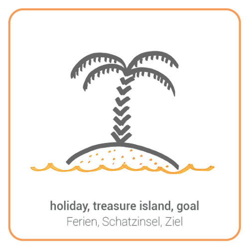 holiday, treasure island, goal