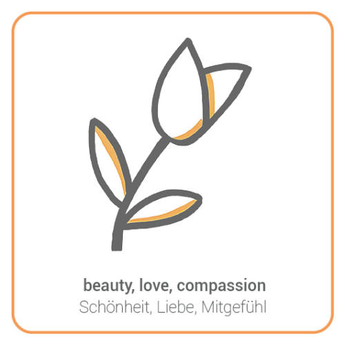 beauty, love, compassion