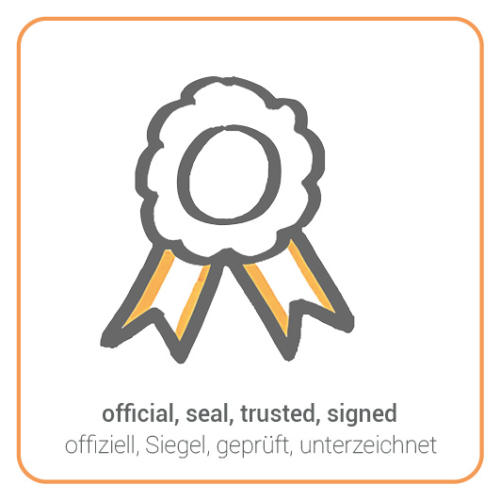 official, seal, trusted, signed