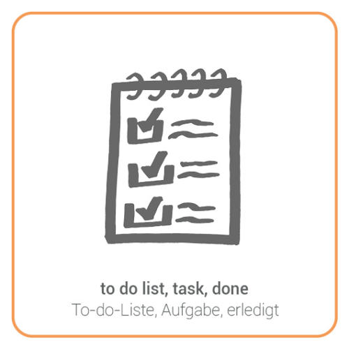 to do list, task, done