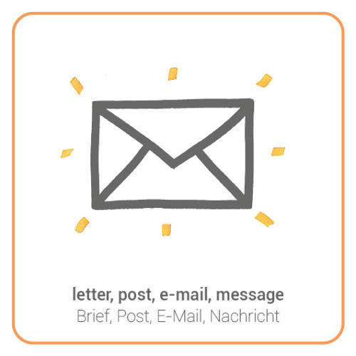 letter, post, e-mail, message