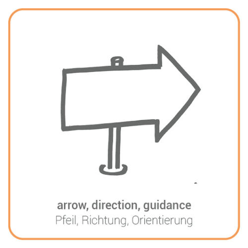 arrow, direction, guidance