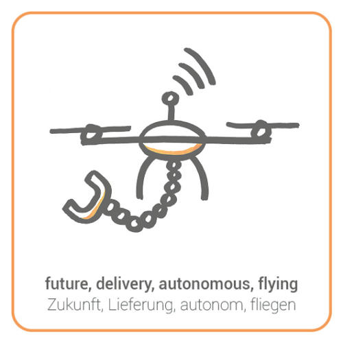 future, delivery, autonomous, flying
