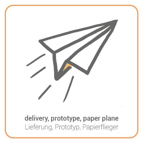 delivery, prototype, paper plane