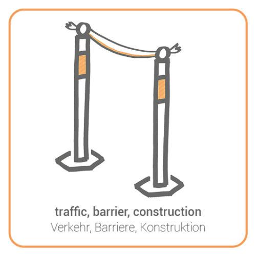 traffic, barrier, construction