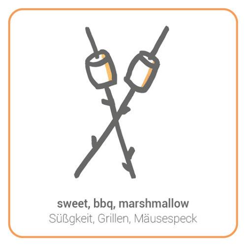 sweet, bbq, marshmallow