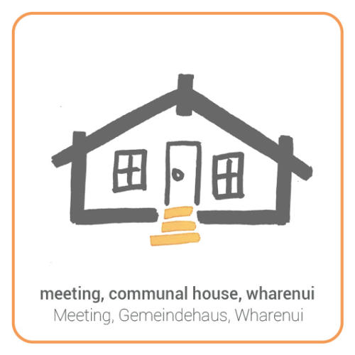 meeting, communal house, wharenui