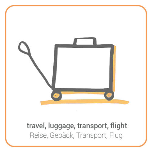 travel, luggage, transport, flight