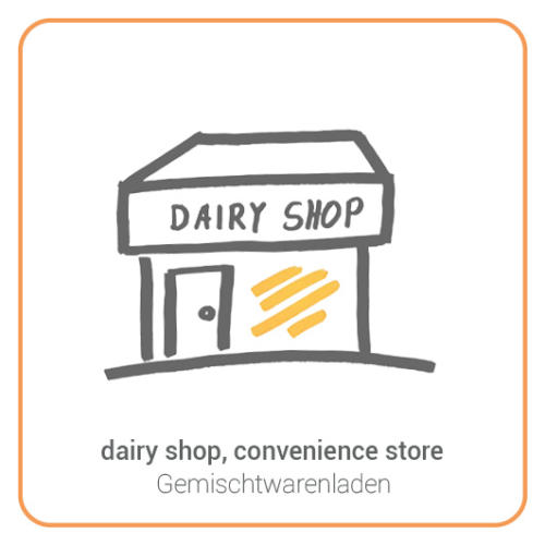 dairy shop, convenience store