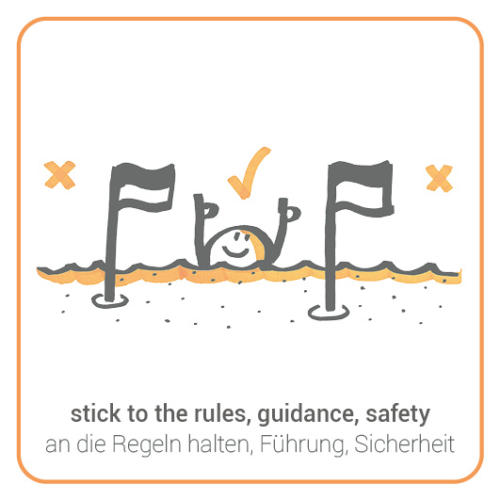 stick to the rules, guidance, safety