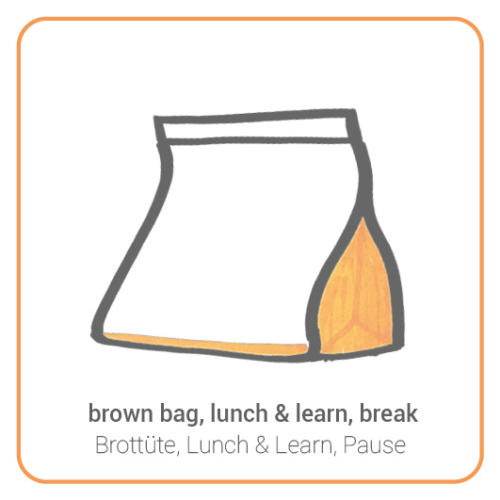 brown bag, lunch & learn, break