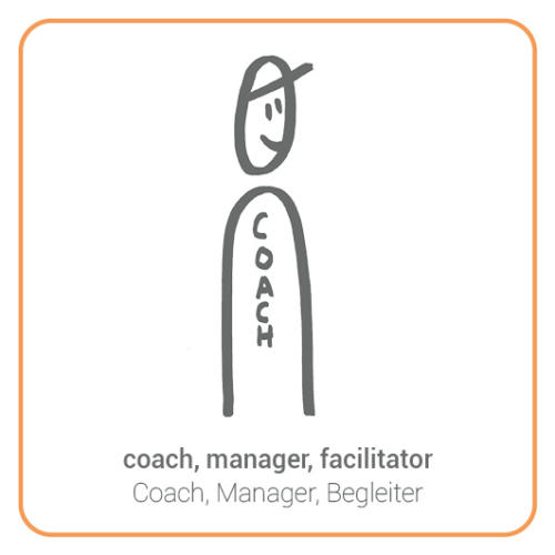 coach, manager, facilitator