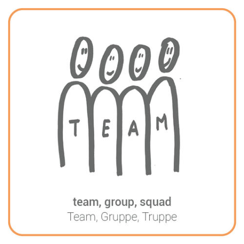 team, group, squad