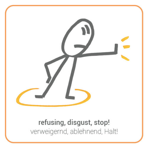 refusing, disgust, stop!