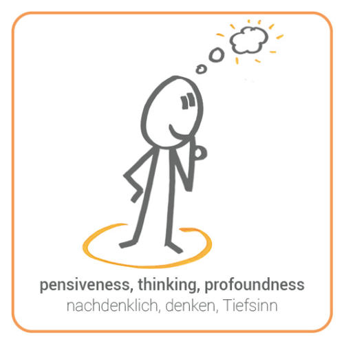 pensiveness, thinking, profoundness, contemplation