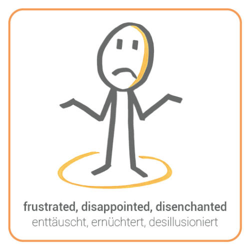 frustrated, disappointed, disenchanted, give-up