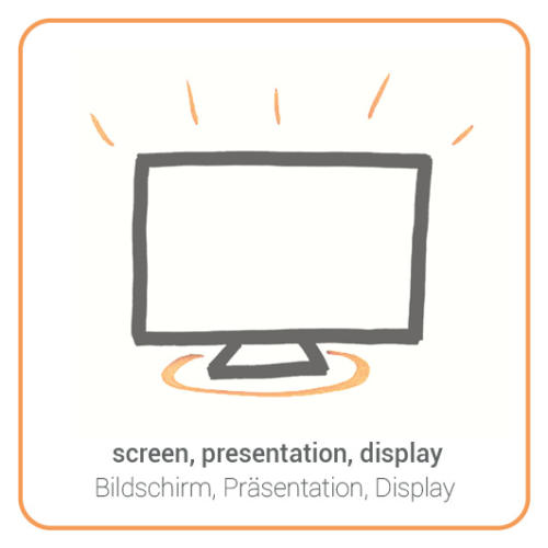 screen, presentation, display