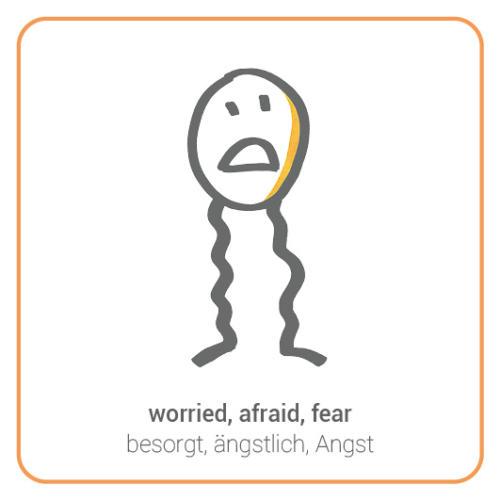 worried, afraid, fear, apprehensive, weak-knees