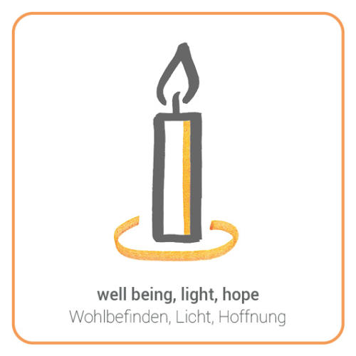 well being, light, hope