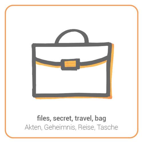 files, secret, travel, bag