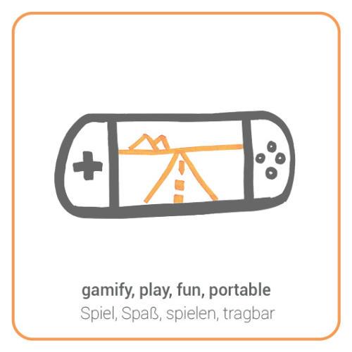 gamify, play, fun, portable