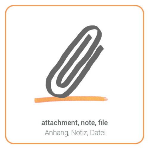 attachment, note, file