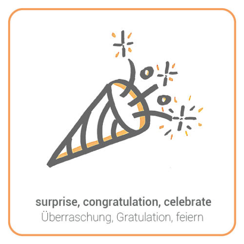 surprise, congratulation, celebrate