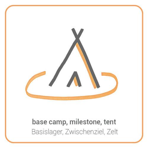base camp, milestone, tent