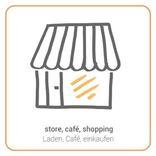 store, café, shopping
